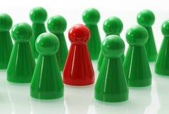 Concept d'esprit d'équipe - rouge vert Image libre de droits