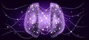 Concept d'esprit de Cyber avec la visualisation de Big Data illustration de vecteur