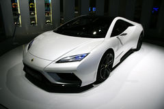 Concept d'Esprit de lotus au Salon de l'Automobile de Paris Image libre de droits