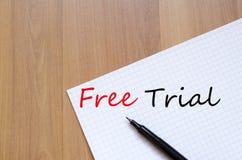 Concept d'essai gratuit Images libres de droits