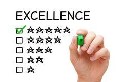 Concept d'estimation d'excellence images stock