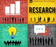 Concept d'examen d'enquête d'inspection d'étude de recherches illustration de vecteur