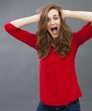 Concept d'excitation et d'humeur pour la belle jeune femme photo libre de droits