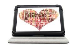 Concept d'exploit de Heartbleed photo libre de droits
