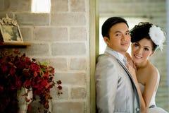 Concept d'exposition de couples de mariage de l'amour Photographie stock