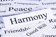 Concept d'harmonie Photographie stock