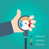 Concept d'hypertension Illustration de vecteur Photo stock