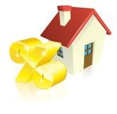 Concept d'hypothèque de pourcentage de Chambre Photo libre de droits