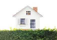 Concept d'hypothèque par la maison d'argent Photographie stock