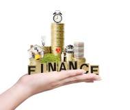 Concept d'hypothèque par la maison d'argent des pièces de monnaie Image libre de droits