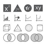 Concept d'icône de maths illustration libre de droits