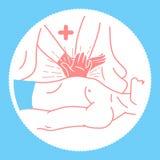 Concept d'icône du premier patient médical illustration libre de droits