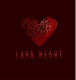 Concept d'icône d'amour Symbole abstrait du coeur brisé Photos stock