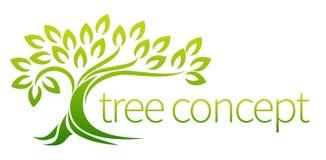 Concept d'icône d'arbre Photographie stock libre de droits