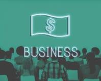 Concept d'icône d'argent de comptabilité de flux de liquidités d'économie Images stock