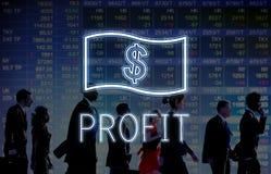 Concept d'icône d'argent de comptabilité de flux de liquidités d'économie illustration stock