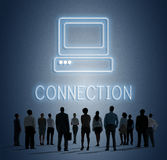Concept d'icône d'ordinateur de media de site Web de page Web Photos libres de droits