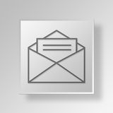 concept d'icône de bouton du courrier 3D Illustration Stock
