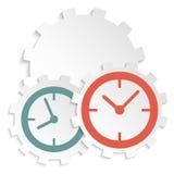 Concept d'icône de horodateur sur la vitesse coupée de papier Image stock