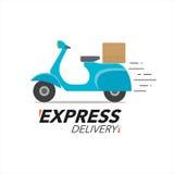 Concept d'icône de la livraison express Service de moto de scooter, ordre illustration de vecteur