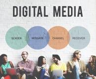Concept d'icône de mise en réseau de connexion de communication Photos libres de droits