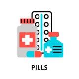 Concept d'icône de pilules illustration de vecteur