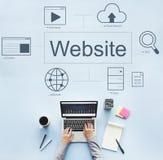 Concept d'icônes de recherche de joueur du monde de site Web Photographie stock libre de droits
