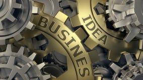 Concept d'idée d'affaires - illustration de fond de weel de vitesse d'or et d'argent 3d rendent Plan rapproché image stock