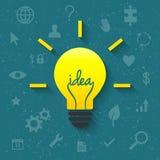 Concept d'idée avec l'ampoule Photo stock