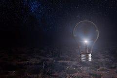 Concept d'idée avec l'ampoule Photos stock