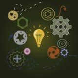 Concept d'idée avec l'ampoule Image libre de droits