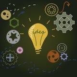 Concept d'idée avec l'ampoule Photographie stock libre de droits