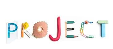 Concept d'idée avec le papier chiffonné coloré Photo libre de droits