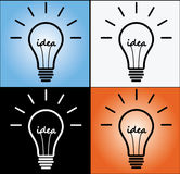 Concept d'idée avec un retrait d'ampoule Image stock
