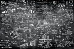 Concept d'idée d'affaires sur le mur Image stock