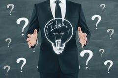 Concept d'idée, de solution et d'atelier images stock