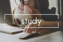 Concept d'idée de Studying Knowledge Learning d'étudiant d'étude image stock