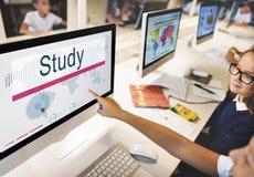 Concept d'idée de Studying Knowledge Learning d'étudiant d'étude images libres de droits