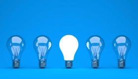 Concept d'idée ou de direction sur un fond bleu Illustration de Vecteur
