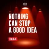 Concept d'idée Rien ne peut arrêter une bonne idée Photos stock