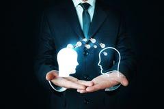 Concept d'idée Transfert de la connaissance image stock