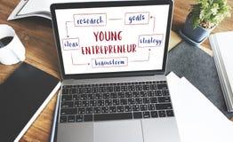 Concept d'idées d'esprit d'entreprise de jeune entreprise Photographie stock