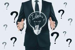 Concept d'id?e, de solution et d'innovation photographie stock