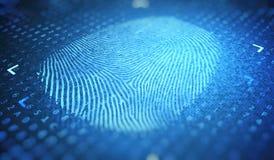 Concept d'identification et de sécurité Empreinte digitale de Digital 3D a rendu l'illustration illustration de vecteur