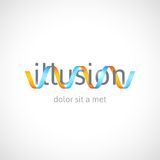 Concept d'illusion optique, calibre abstrait de logo Images stock