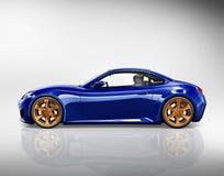 concept d'illustration de transport de véhicule de voiture de sport 3D Images libres de droits