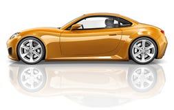 concept d'illustration de transport de véhicule de voiture de sport 3D Photographie stock