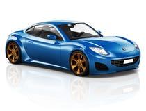 concept d'illustration de transport de véhicule de voiture de sport 3D Photos libres de droits