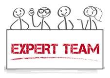 Concept d'illustration de vecteur d'équipe d'experts illustration stock