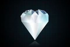 Concept d'illustration du coeur 3D de diamant illustration libre de droits